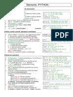 Memento Python (1)