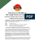 Dom Irrera 2010 Press Release