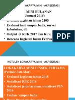 NOTULEN Lokakarya mini - akreditasi