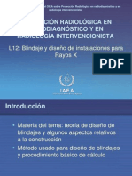 12. Blindaje y diseño de instalaciones para Rayos X