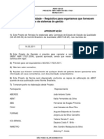 Projeto ABNT NBR ISO IEC 17021_2011