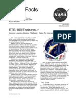 Nasa Facts STS-100