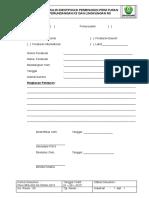 Fm k3rs 002 01 Spmn 2015 Formulir Identifikasi Peraturan Perundangan