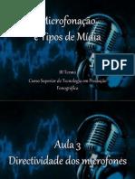 Aula 3 - Directividade dos microfones