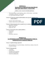 TEMARIO PROGRAMA DE LA CATEDRA SALUD PUBLICA