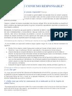 ACCIONES DE CONSUMO RESPONSABLE-.
