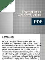 control de la microestructura