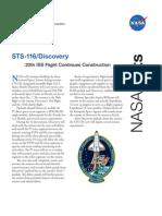 Nasa Facts STS-116