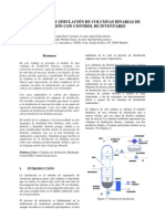 Modelado y simulación de columnas binarias de destilación con control de inventario