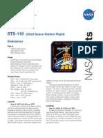 Nasa Facts STS-118