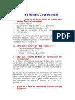 CUESTIONARIO MATRICES Y SUBSIDIARIAS