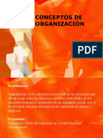 CONCEPTOS DE ORGANIZACIÓN