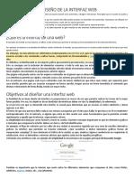 EL DISEÑO DE LA INTERFAZ WEB