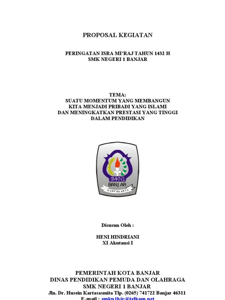 Proposal Kegiatan Isra Mi Raj Master Heni
