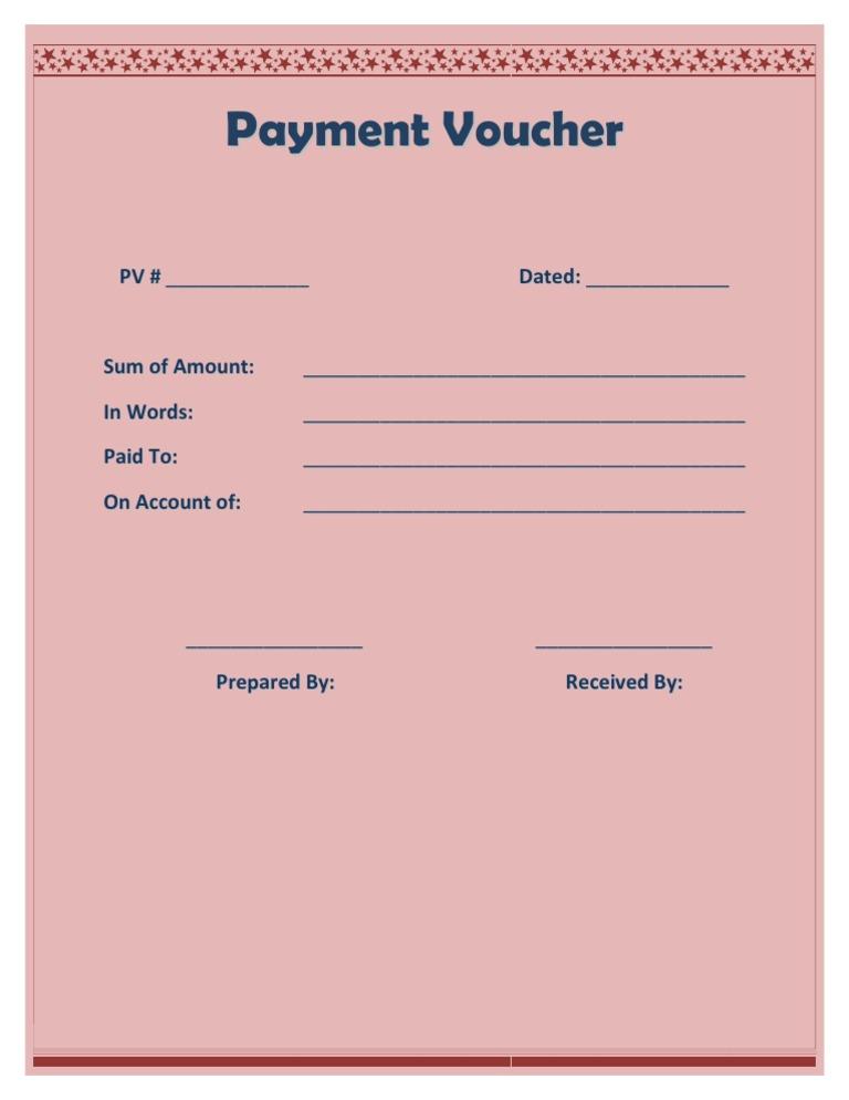paymentvouchertemplate – Payment Voucher Sample