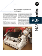 NASA Facts Hubble Space Telescope Servicing Mission 4 Cosmic Orgins Spectrograph