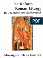 The Reform of the Roman Liturgy by Msgr. Klaus Gamber