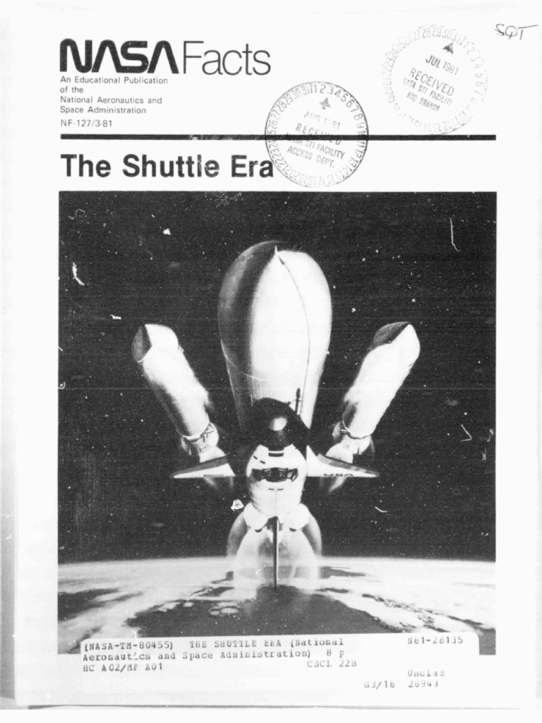 NASA Facts the Shuttle Era | Space Shuttle | Space Shuttle ...