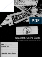 Spacelab Users Guide a Short Introduction to Spacelab and Its Use