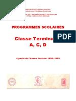 ProgrammeScolaire Terminale
