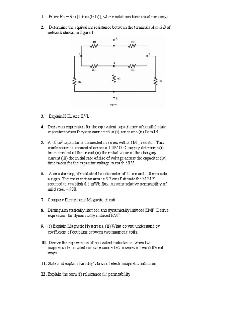 Questions Bank Inductor Inductance Circuit And Determines The State Of By Comparing