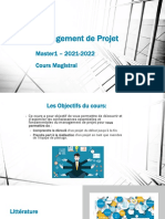 CM Management de Projet Master1 2021 2022 Cours Magistral