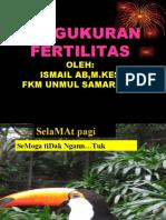 PENGUKURAN FERTILITAS