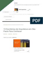 15 Escritórios de Arquitetura em São Paulo