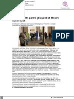 Agenda 2030, partiti gli eventi di Uniurb Sostenibile - Il Metauro.it, 6 ottobre 2021