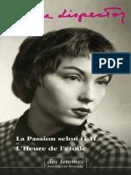Lheure de létoile  La passion selon G.H. by Clarice Lispector [Lispector, Clarice] (z-lib.org).epub