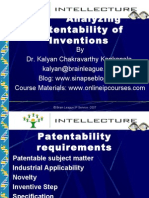 Analyzing Patentability of Inventions
