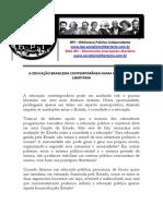 A Educacao Brasileira Contemporanea Numa Perspectiva Libertaria