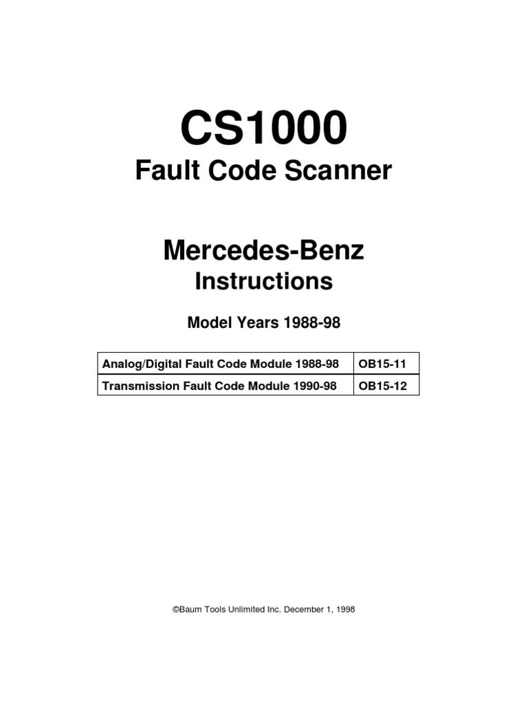 Mercedes benz fault codes electrical connector for Mercedes benz diagnostic codes