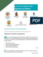 Asthma CPG summary card