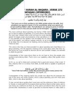 4. TAFSEER OF SURAH AL-BAQARA  VERSE 272 NAFAQAH {SPENDING}