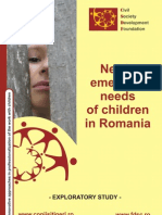 Newly Emerging Needs of Children in Romania - Exploratory Study