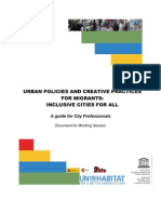 Guide for City Professionals- Urban Policies and Creative Practices for Migrants Inclusive Cities for All
