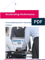 Accelerating Performance Towards Maturity 2011 Benchmark