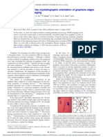 [APL.97.082112(2010)] Direct determination of the crystallographic orientation of graphene edges by atomic resolution imaging