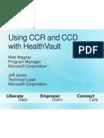 UsingCCRandCCRwithHealthVault