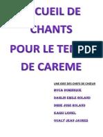 RECUEIL DE CHANTS POUR LE TEMPS DE CAREME-3