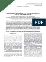 QUANTIFICATION OF CAROTID PLAQUE VOLUME MEASUREMENTS