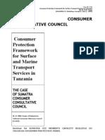 Tenga, R.W. 'Consumer Protection Framework for Surface & Marine Transport in Tanzania - SUMATRA' June, 2008