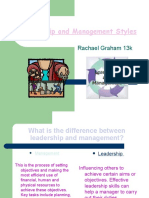 Leadership and Management Styles RGraham
