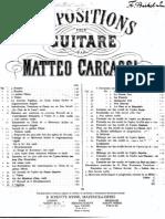 (Carcassi)  - 6 Caprices Op.26