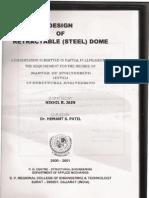Design of Retractable Steel Dome Part-1