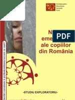 Studiu - Nevoi Emergente Ale Copiilor Din Romania