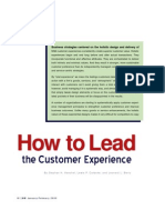 How to lead the customer experience