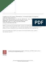 SMULOVITZ_La Política Por Otros Medios. Judicialización y Movilización Legal en Argentina
