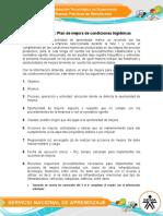Evidencia 12  plan de mejora de condiciones higienicas